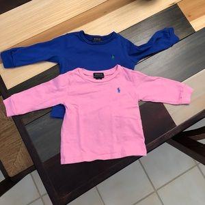 Ralph Lauren Long Sleeve T-shirts -12 months